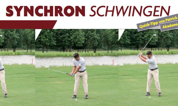 Synchron schwingen – Quick- Tipp aus dem Golf Journal