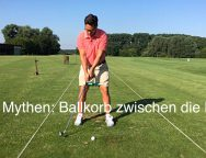 Golf- Mythen: Ballkorb zwischen die Beine