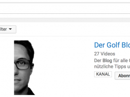 Titelbild Der Golf Blog YouTube