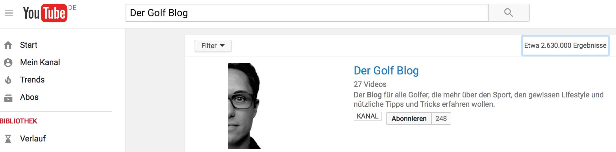 YouTube und die Golfblogger