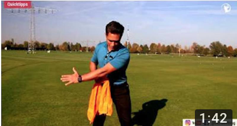 Wir lieben Golf Quick Tipp:Linken Arm gerade lassen