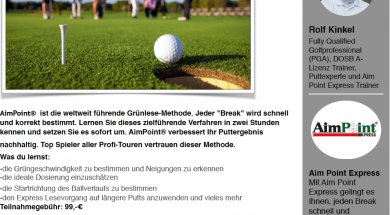 Flyer Aim Point Express Level 1&2 powered by Der Golf Blog