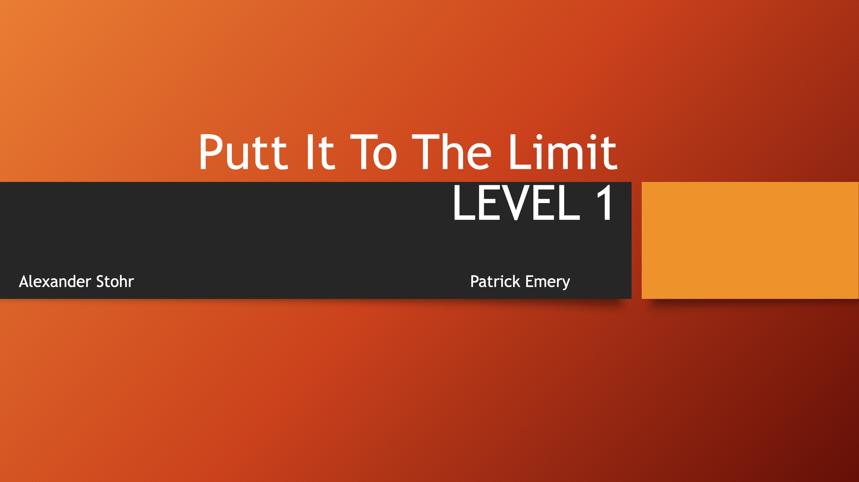 Putt It To The Limit